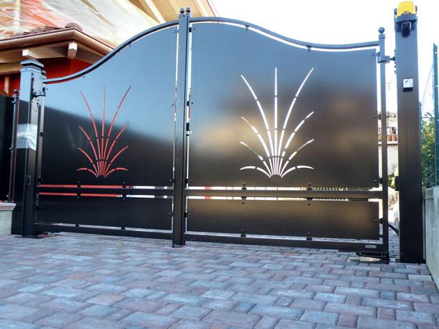 Linea serramenti porte tapparelle inferriate a ferrara for Cancello scorrevole moderno